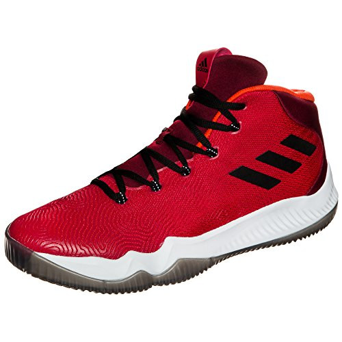 Adidas Herren Crazy Hustle Basketballschuhe, Rot