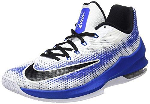 Nike Herren Air Max Infuriate Low Basketballschuhe, Mehrfarbig (White/Black/Varsity Royal)