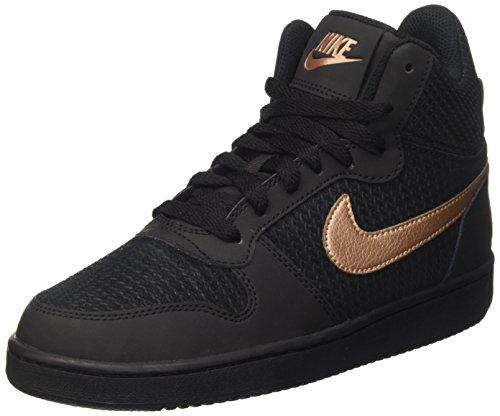 Nike Damen W Court Borough Mid Prem Basketballschuhe, schwarz