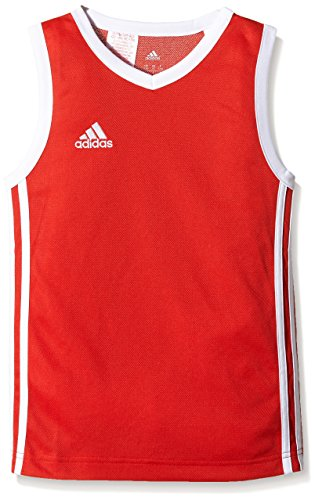 adidas Kinder Trikot Commander Jersey Youth, Rot/Weiß