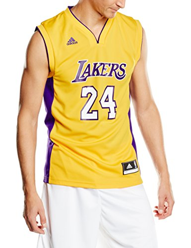 adidas Herren Trikot Los Angeles Lakers Kobe Bryant NBA Int Replica, gelb