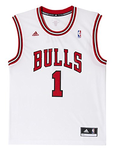 adidas Herren Trikot International Chicago Bulls Derrick Rose NBA Replica