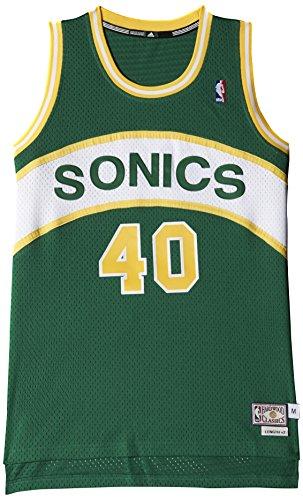 adidas Herren Basketball Seattle Sonics Retired Trikot, grün