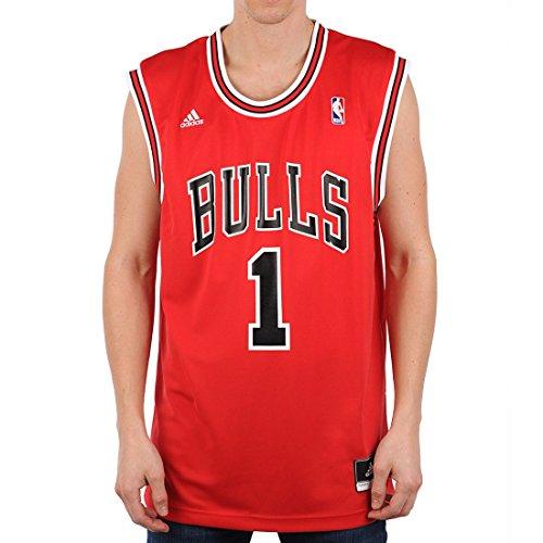 adidas Herren Trikot Chicago Bulls Derrick Rose NBA Int Replica, rot