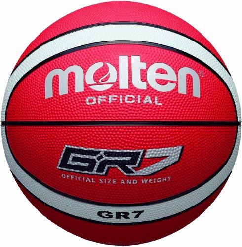 molten Basketball, rot/weiß, 7