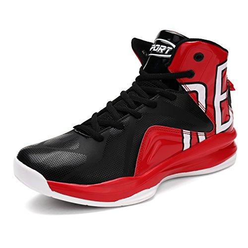 ASHION Herren Basketballschuhe rot